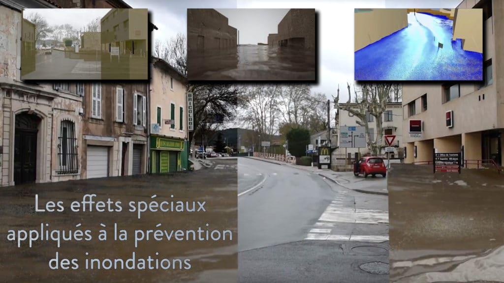 Vignette Effets Spéciaux et Réalité Augmentée appliquée à la prévention des risques naturels